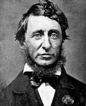 Retrato de Thoreau en 1856, por Benjamin D. Maxham.