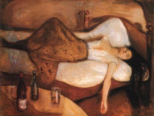 'Al día siguiente' (1894-5), pintura de Edvard Munch.